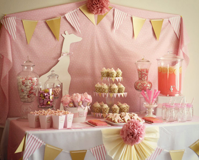 Baby Shower Giraffe Images ~ Pink giraffe baby shower party kaylee miller