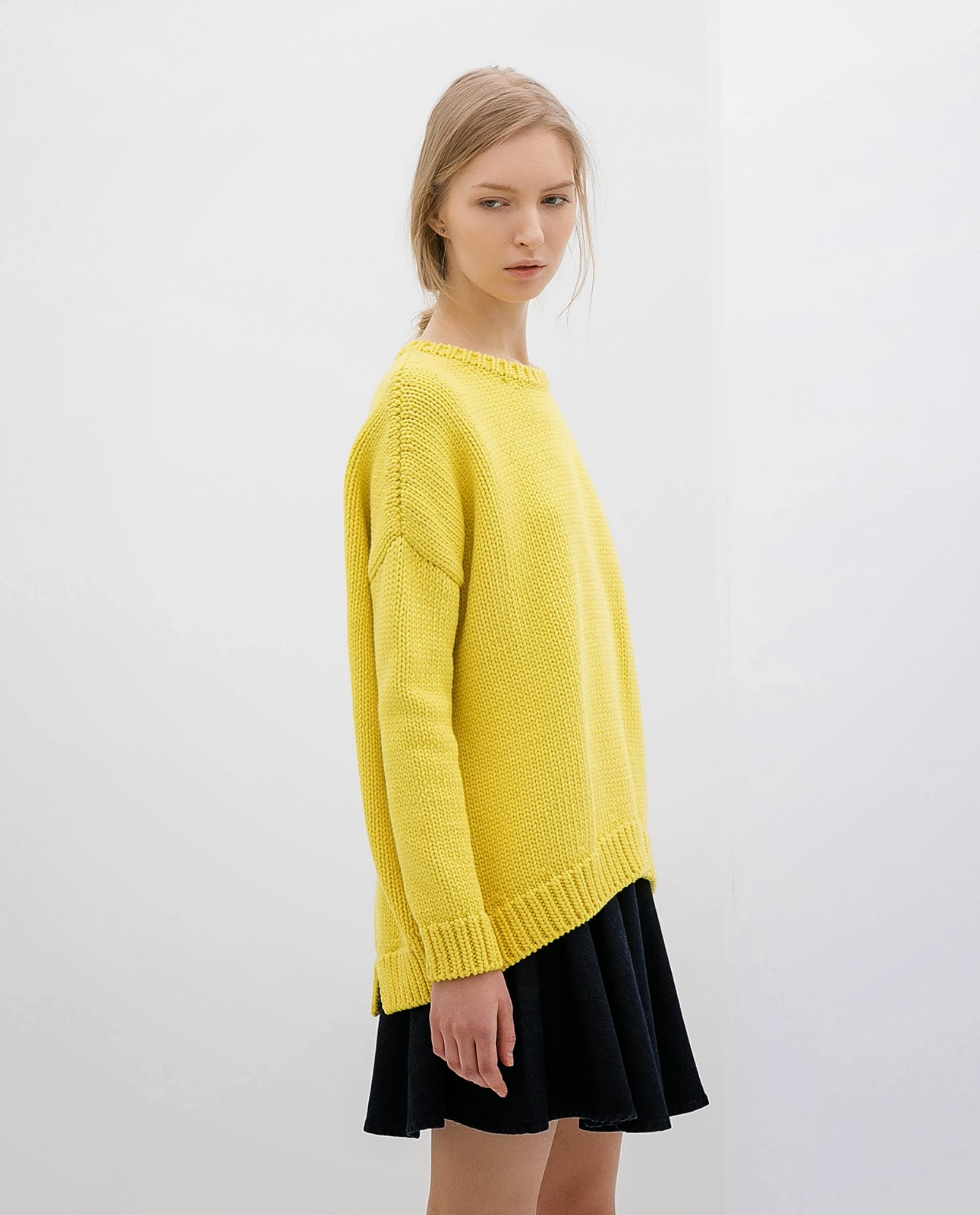 zara yellow jumper
