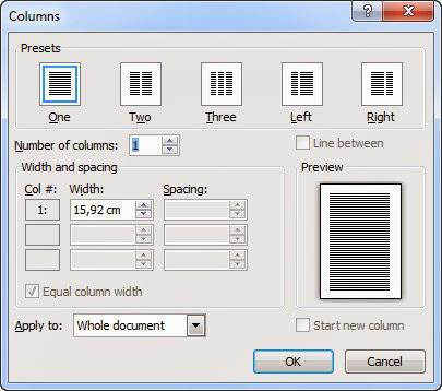 Cara Membuat Layout Kolom Koran Pada Microsoft Office Word 2007 2010 Dan 2013
