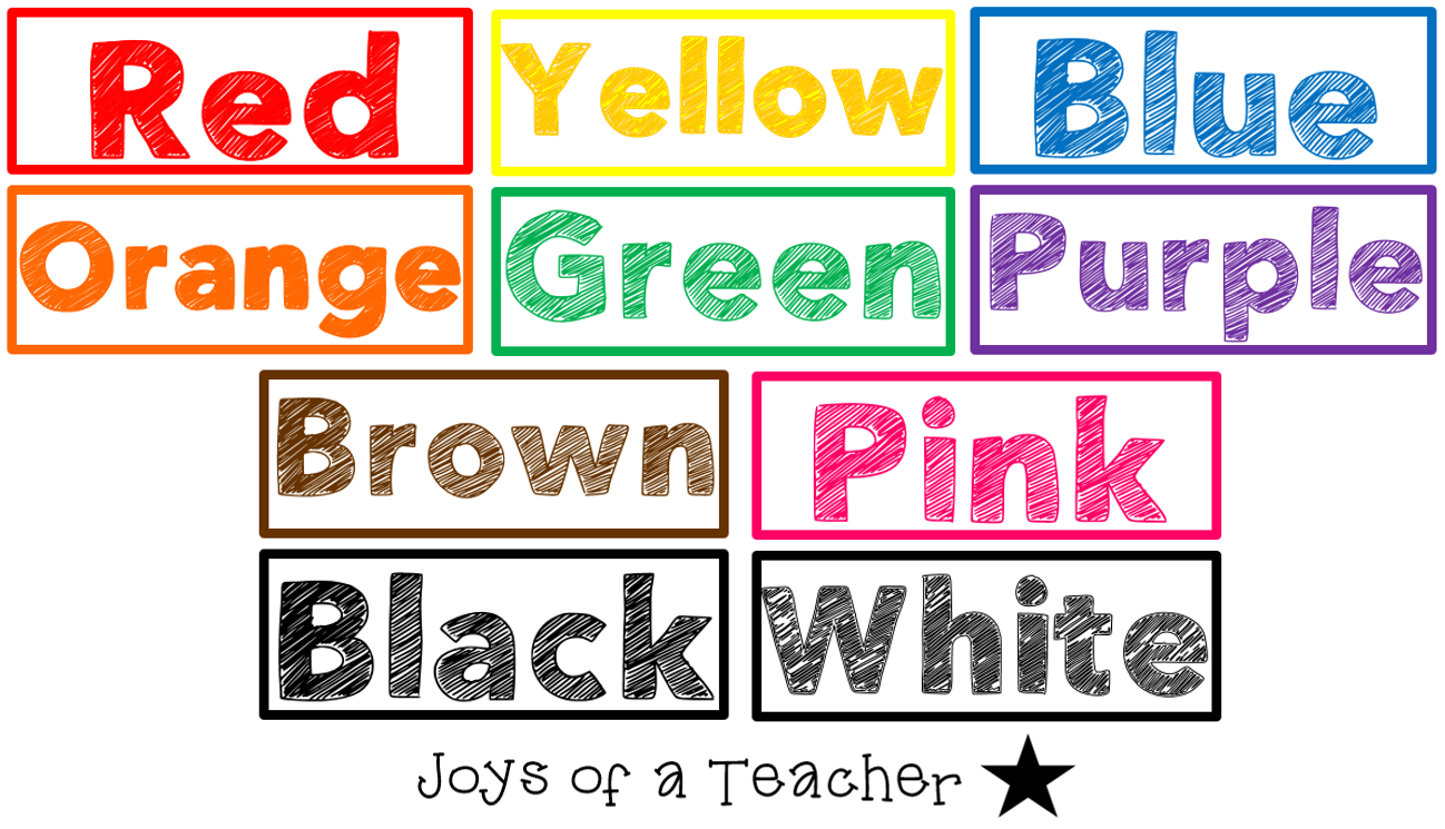 Word List Definitions of Color Words  Phrontistery