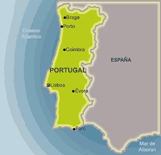 El mapa de Portugal