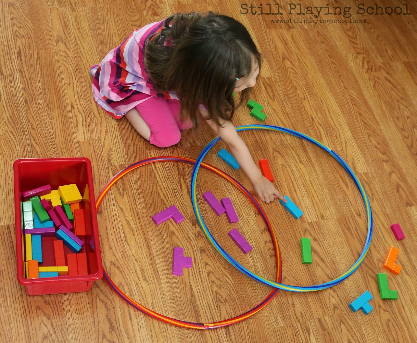 hula hoop venn diagram sorting still playing school