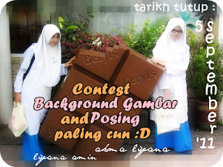 contest background and posing paling cun