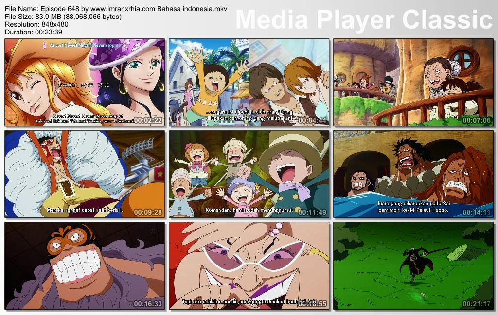 Download Film One Piece Episode 648 (Serangan Mendadak! Pahlawan Legenda Usoland) Bahasa Indonesia