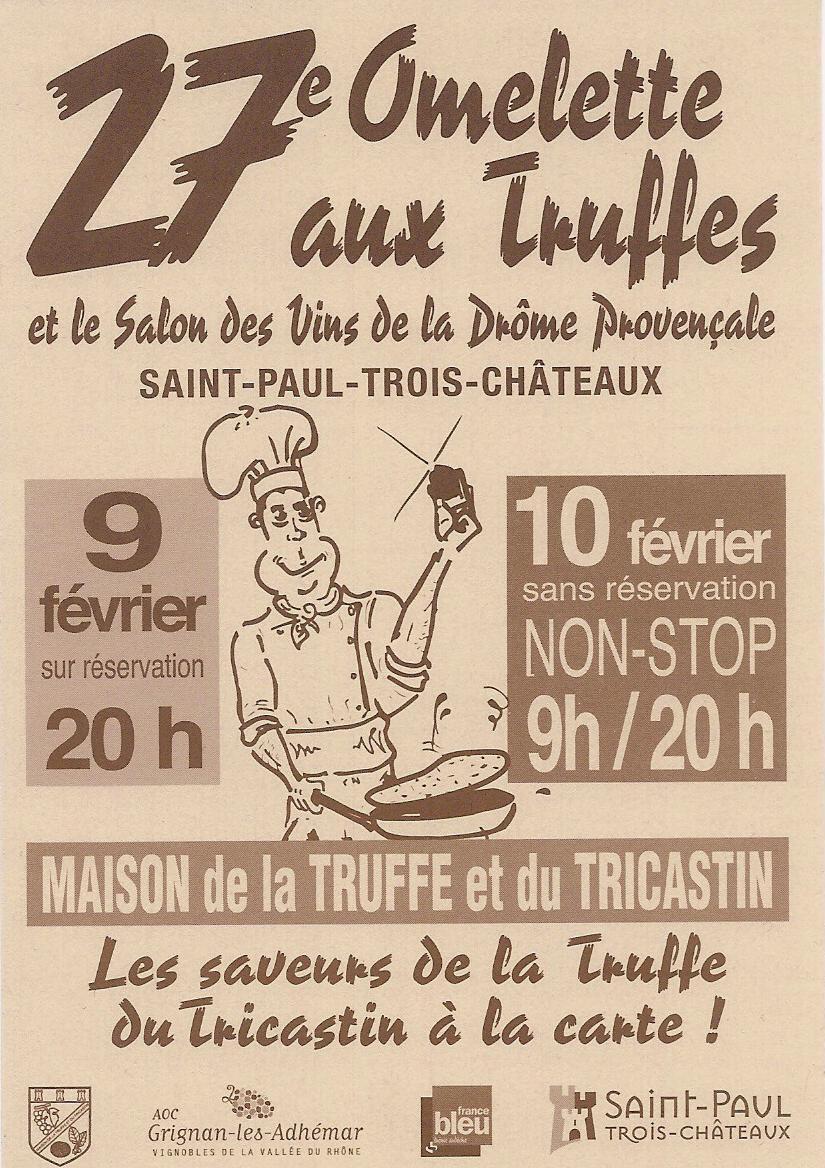 Imagine tours blog festival de la truffe et du vin 2013 - La table des seigneurs saint paul trois chateaux ...