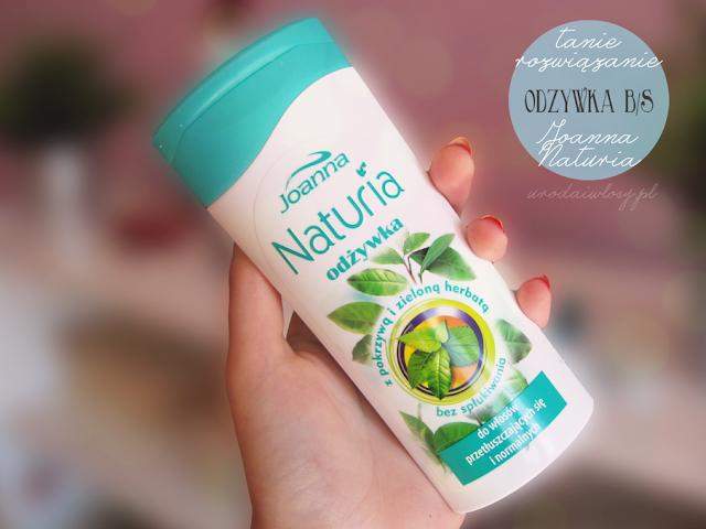 Joanna Naturia odżywka bez spłukiwania z pokrzywą i zieloną herbatą do włosów przetłuszczających się i normalnych