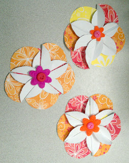 finished paper flowers