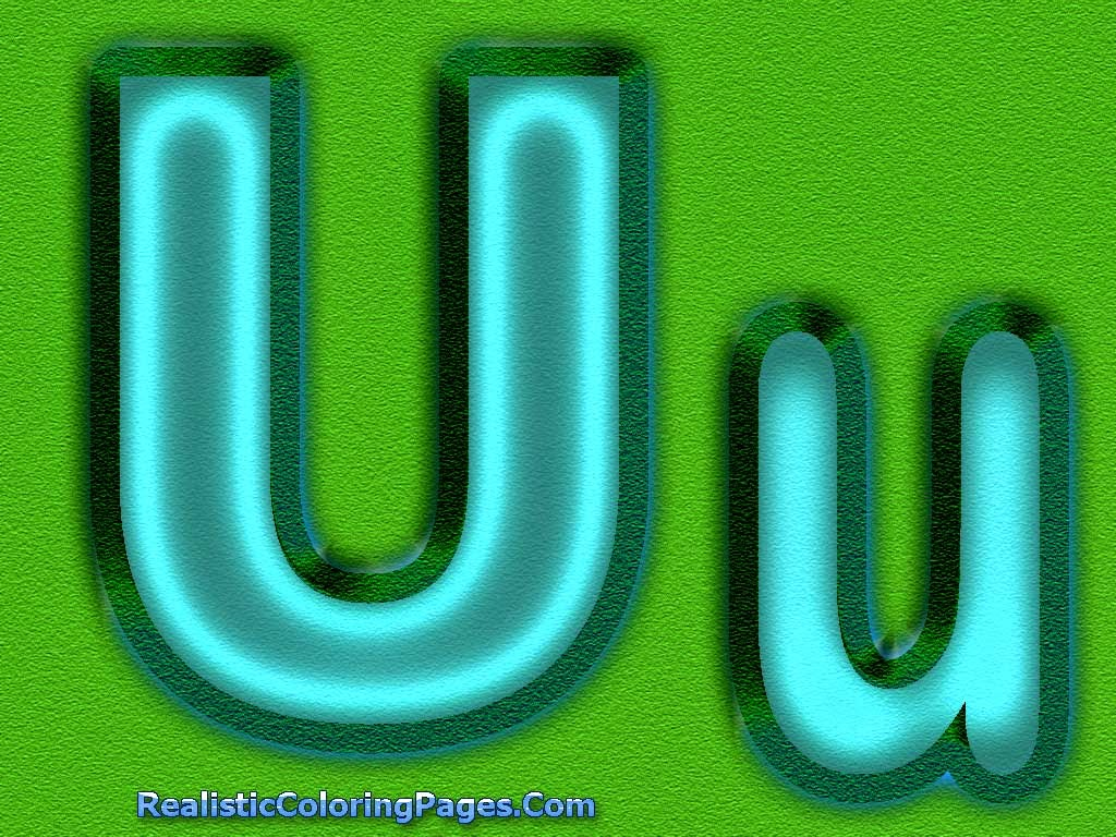 U Letter Alphabet Coloring Sheet | Realistic Coloring Pages