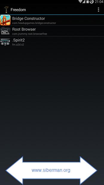 Android Freedom Ücretsiz Uygulama ve Oyun Satın Alma Apk resimi