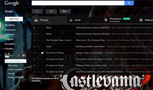 Como agregar un Tema en Gmail (fondo de pantalla personalizado)