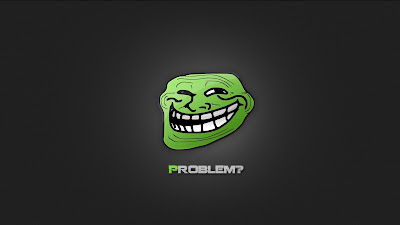 Laughing Green Trollface Problem HD Wallpaper