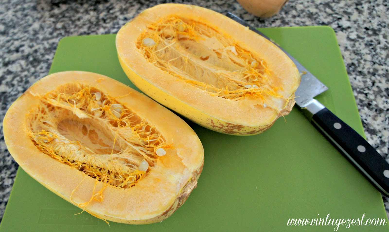 Kitchen Basics: How to Cook Spaghetti Squash on Diane's Vintage Zest!