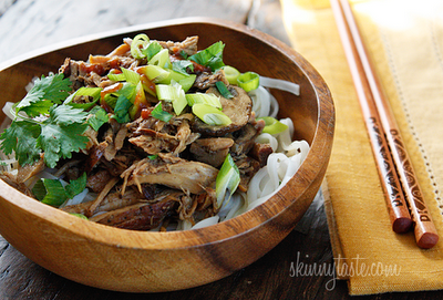 Slow Cooker Asian Pork with Mushrooms from Skinnytaste found on SlowCookerFromScratch.com