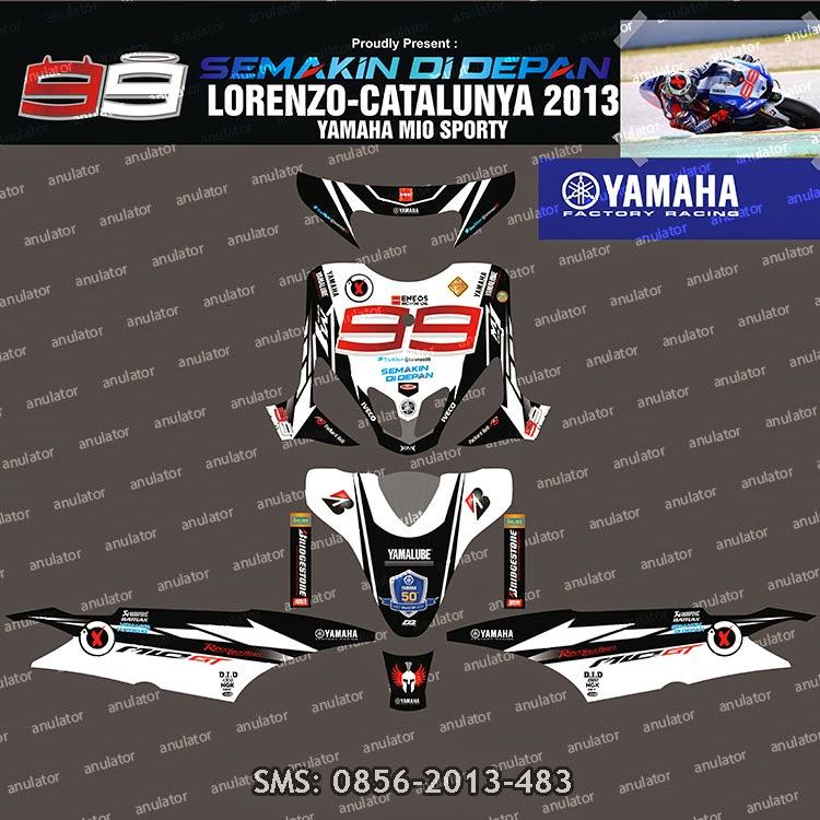 Yamaha Mio Sporty Sticker Decals Satu Sticker - Mio decalsmodifikasi striping mio j striping stickers decals joehansb