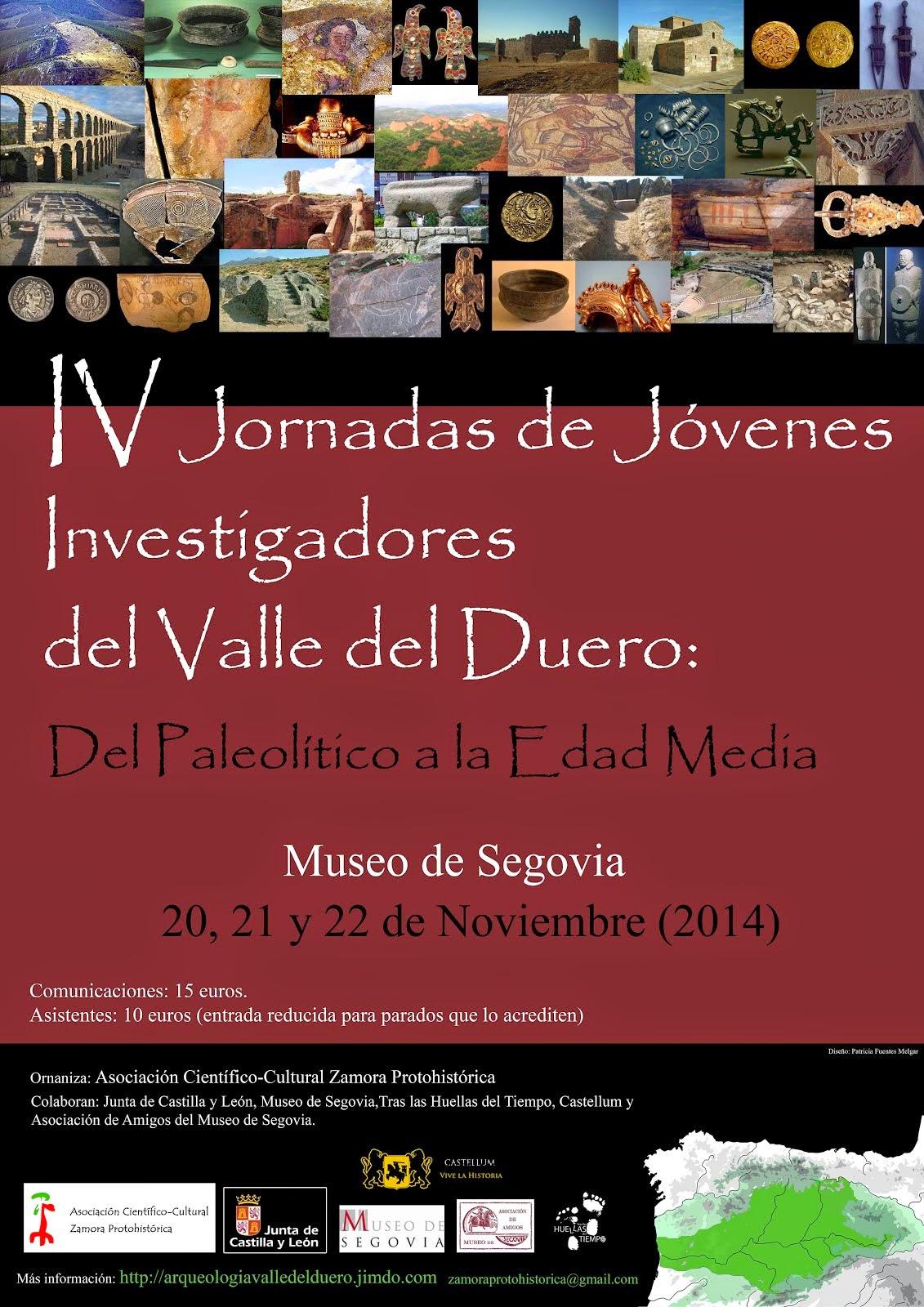 IV Jornadas de Jóvenes Investigadores del valle del Duero (Segovia, 2014)