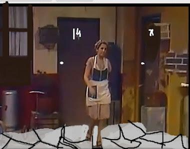 Dona florinda passeando pela Vila