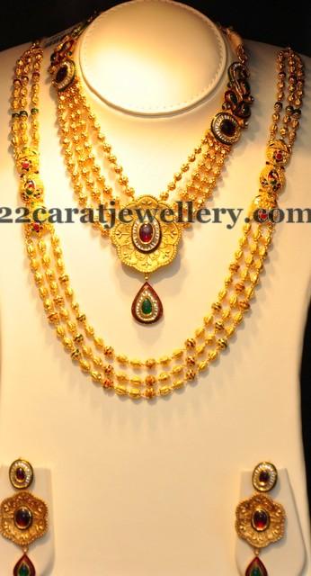 jos alukkas gold floral necklace jewellery designs
