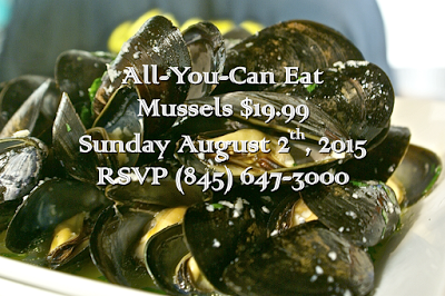 All you can Eat Mussels in the Aroma Thyme Garden