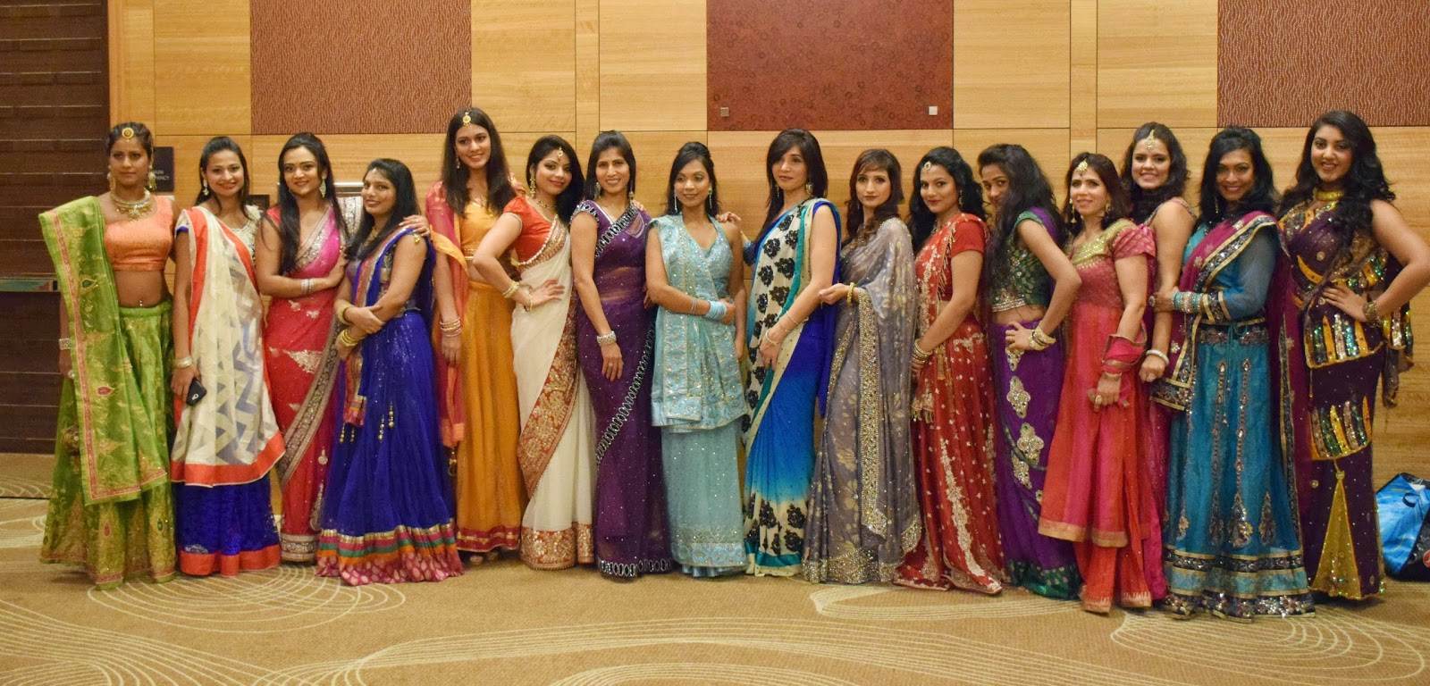 Ananya in saree, Ananya with her friends, Ananya in Sari, Seattle Fashion show, Hyatt Seattle Fashion Show, Authentic Indian wear, Fashion show in Seattle, Seattle Desi Fashion Show
