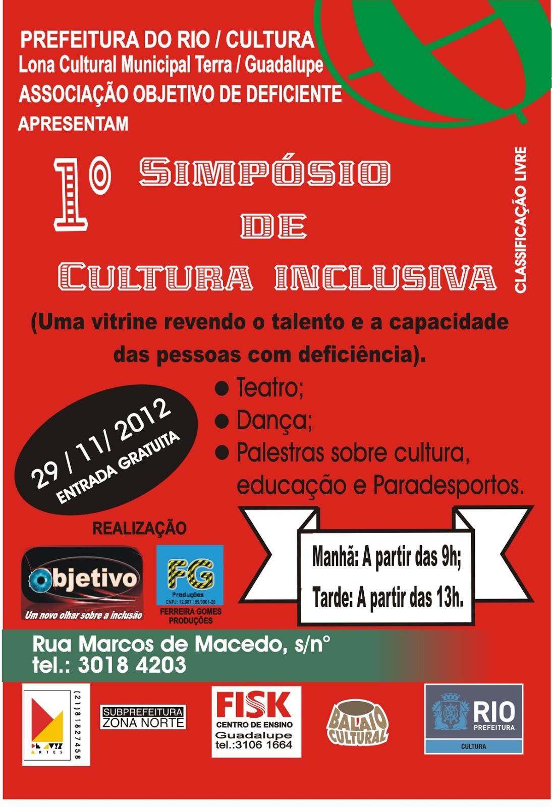 Inclusão social é tema de evento na Lona Cultural de Guadalupe