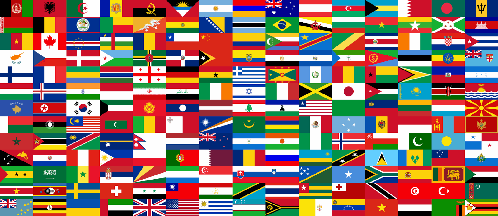 Flags From Every Country in the World What to Do When Bored