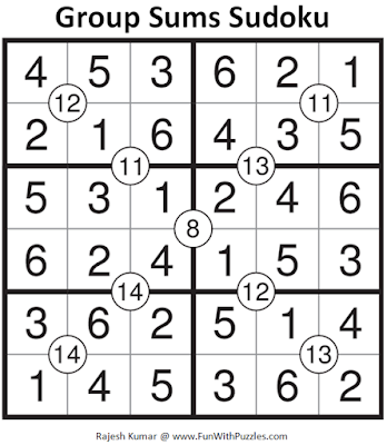 Group Sums Sudoku (Mini Sudoku Series #62) Answer
