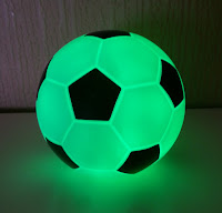 Football Light lit up green