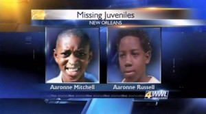 New Orleans Brothers Aaronne Mitchell & Aaronne Russell Missing in Area with 107 Sex Offenders
