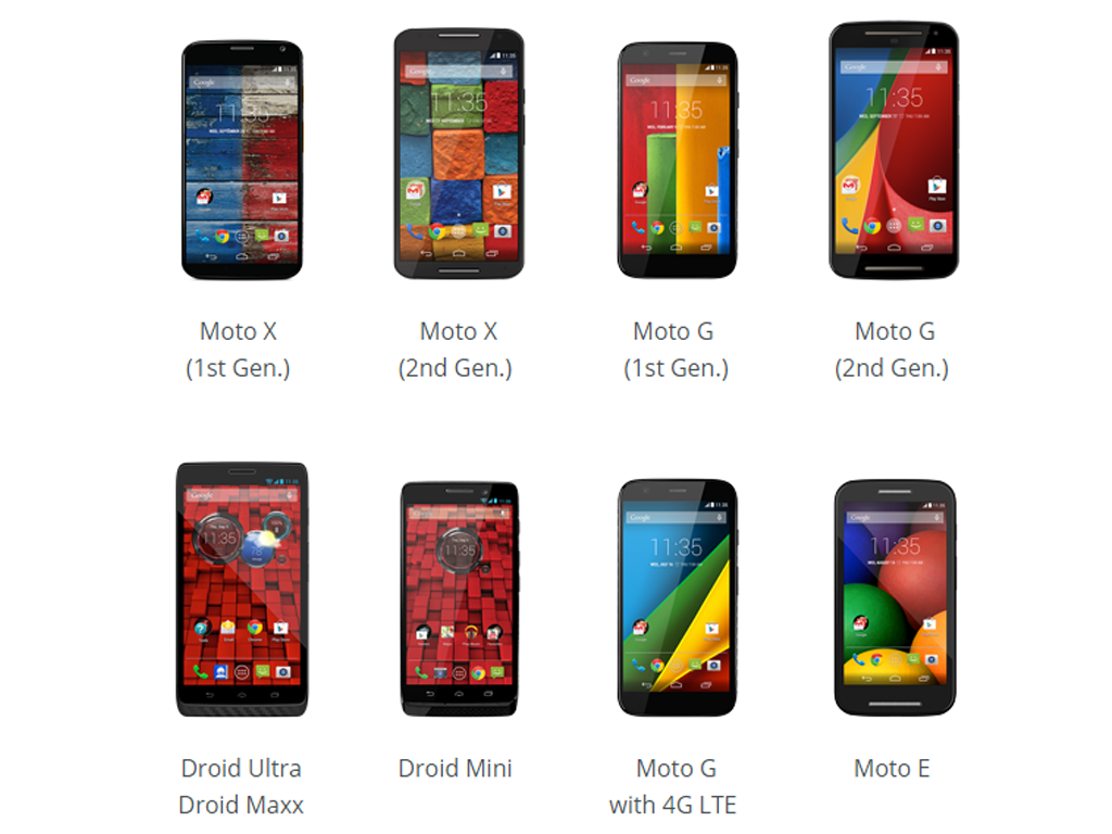 Motorola Launches Update Guide To Show Models That Will Get Android 5.0 Lollipop Upgrade