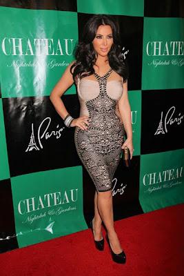 Kim Kardashian Teases Hourglass Figure