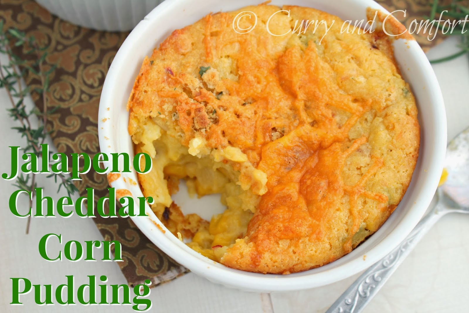 Kitchen Simmer: Jalapeno Cheddar Cornbread Pudding