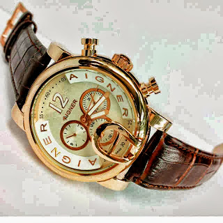 Jam Tangan Aigner Bari Swasa Brown Leather Putih