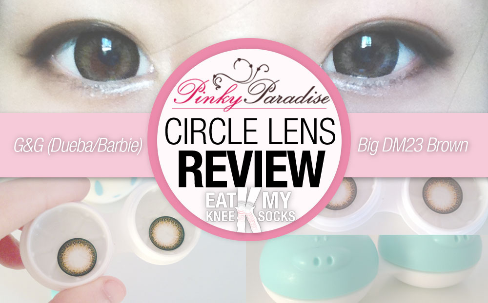 Circle lens review for the g&g big dm23 brown lenses from pinky paradise