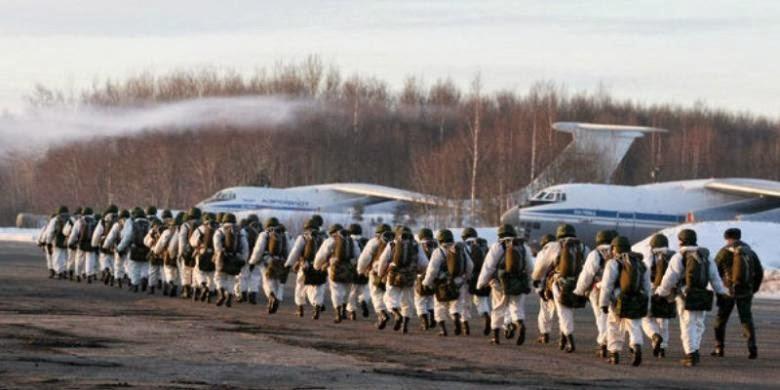 Pasukan Lintas Udara Rusia Gelar Latihan Besar-besaran