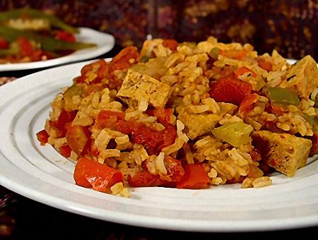 Tofu Jambalaya Vegan Vegetariano