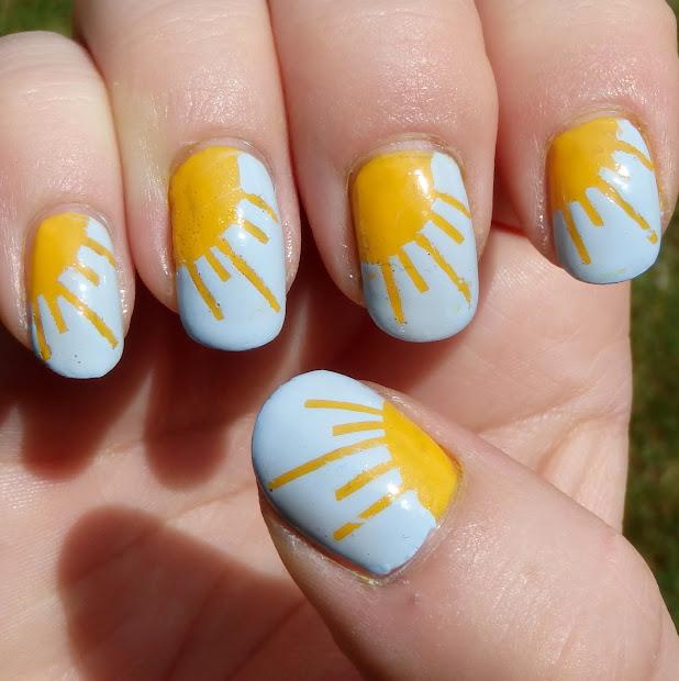 quixii's nails 05 12 13 - sunshine