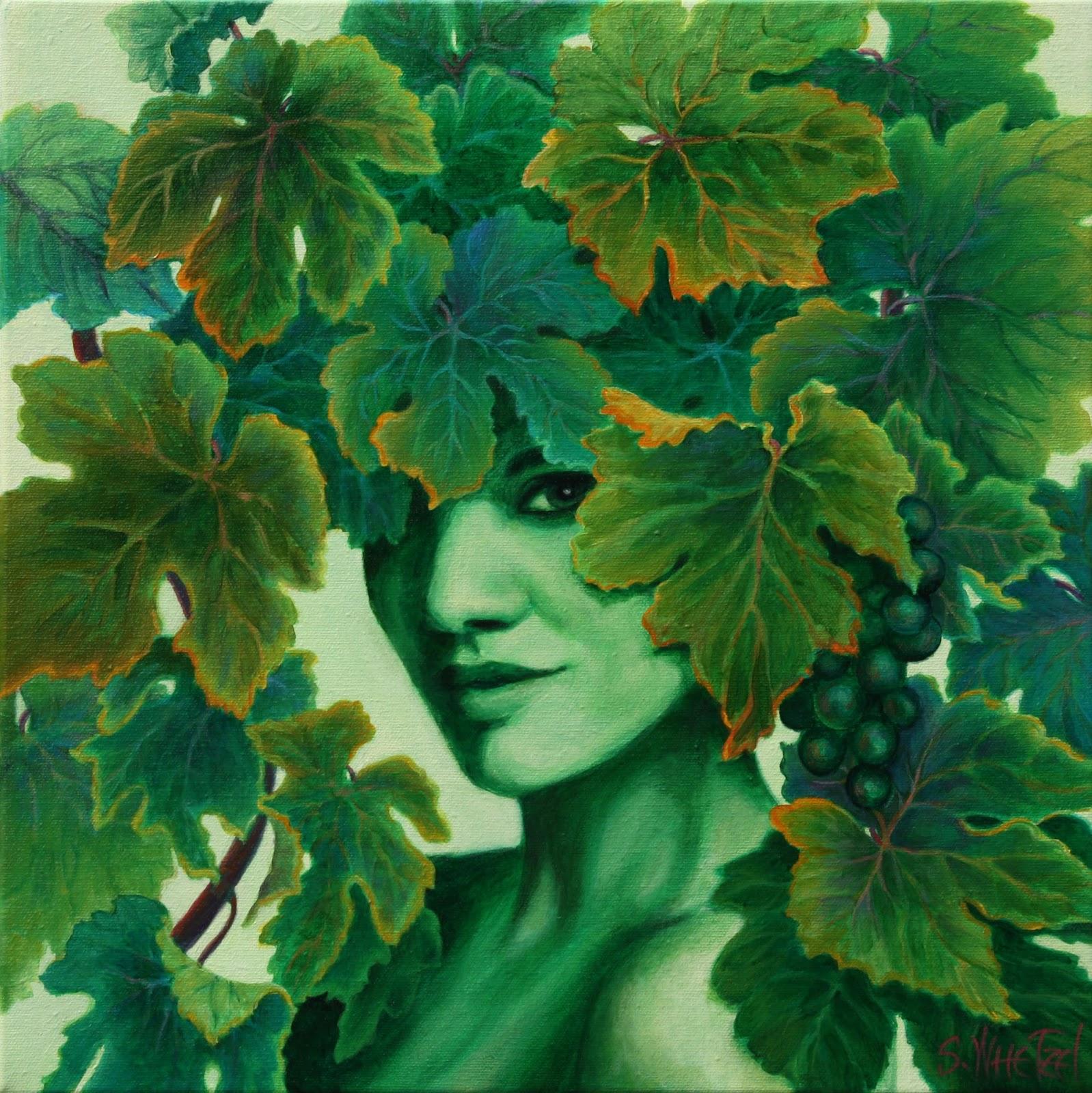 Leaves Paintings And Drawings Acrylic Grape Leaves Paintings