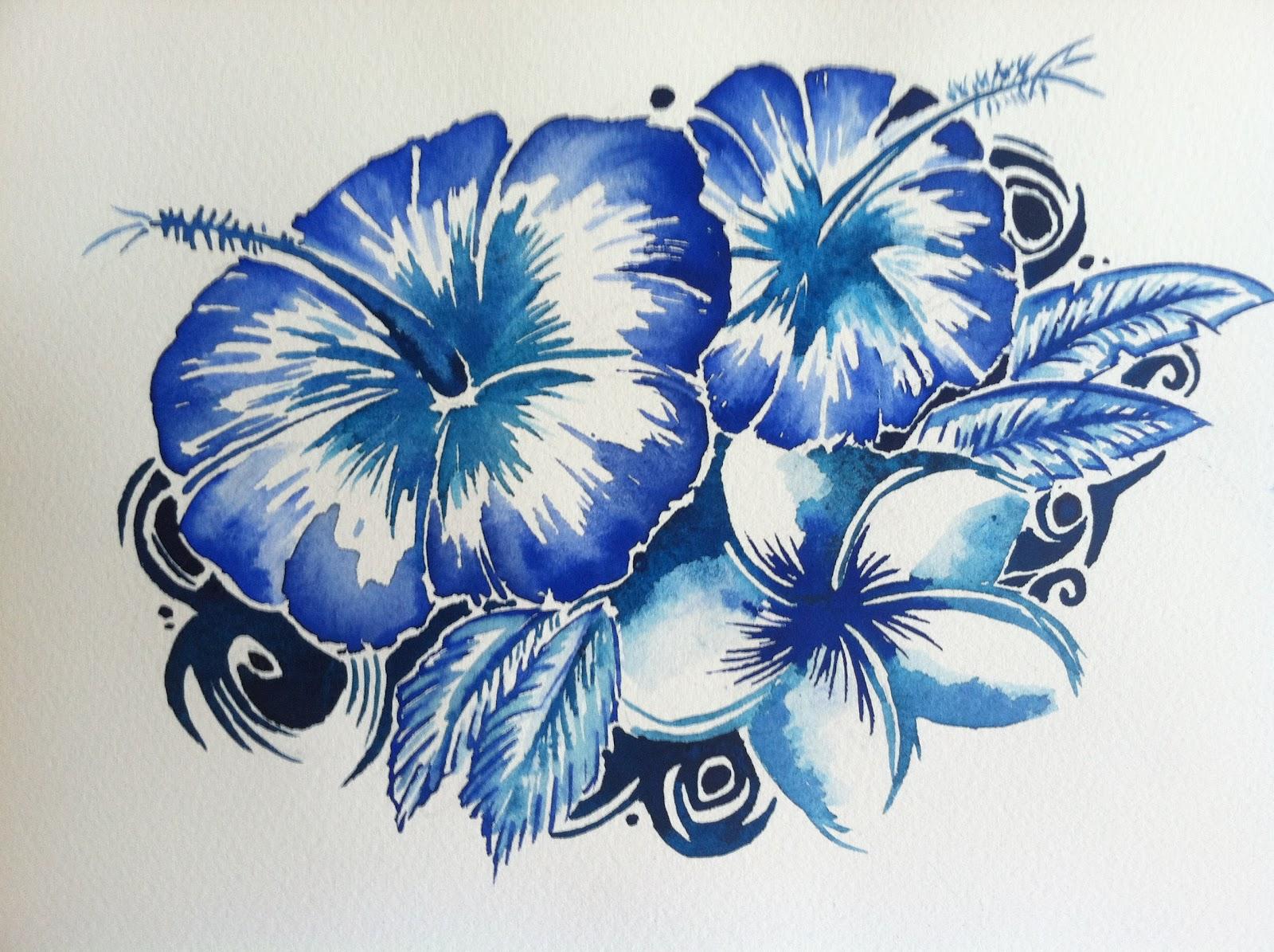 Blue Hawaiian Hibiscus Flower