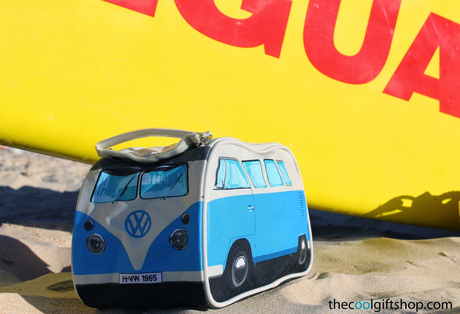 VW campervan blue toiletry bag by www.thedesigngiftshop.com