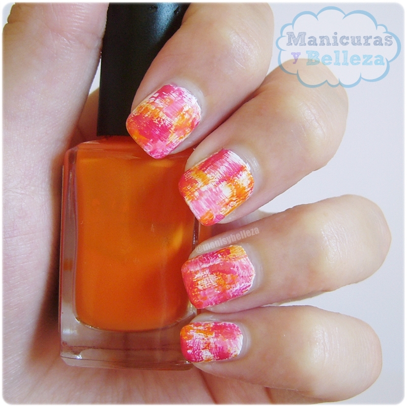 manicura abstracta notd abstract nail art colorido técnica brochazo nails easy