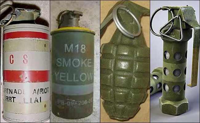 5 Jenis Bom Granat Tangan atau Granat Genggam di Dunia