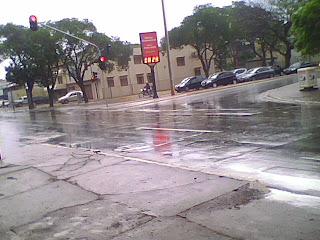 Muita chuva na Asa Sul em Brasília