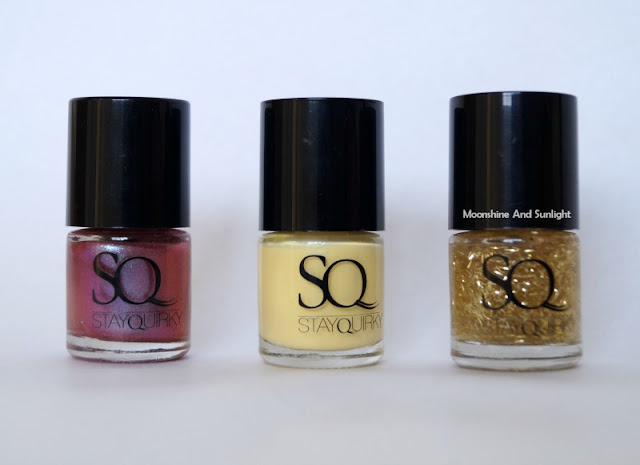 Stay Quirky Finger looking good, Electric sensation and Hyperventilated nail polish