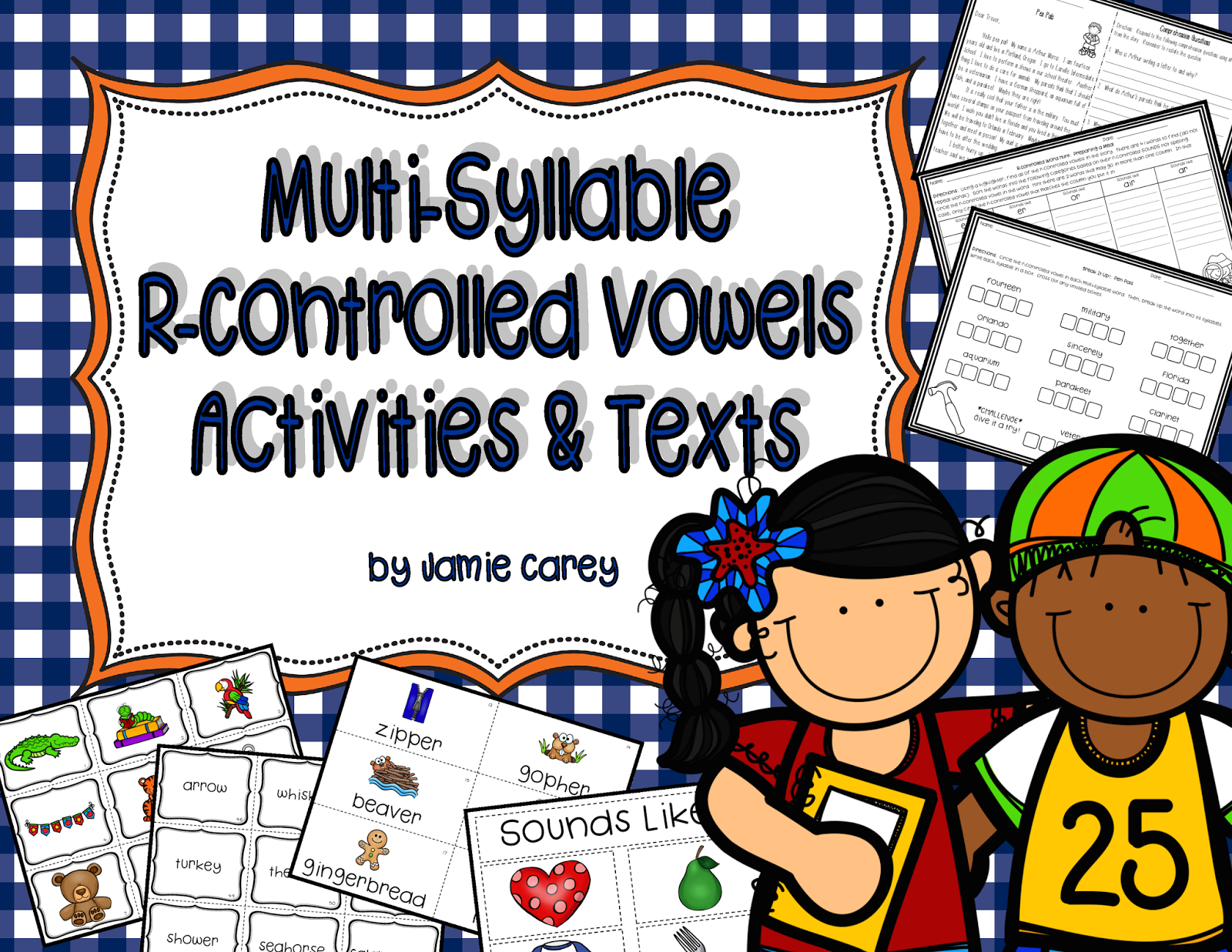 http://www.teacherspayteachers.com/Product/Multi-Syllable-R-Controlled-Vowels-Activities-Texts-1492462