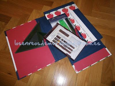 Carpeta - estuche realizado con la técnica del cartonaje