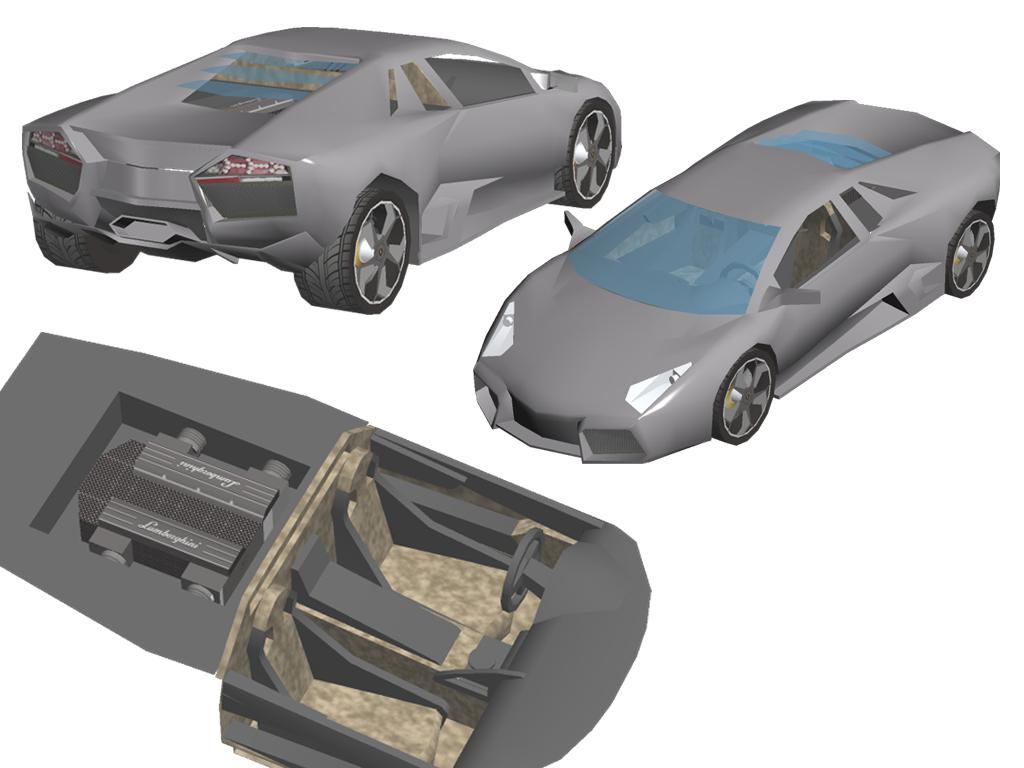 Papercraft Car Lamborghini Lamborghini The Italian Car