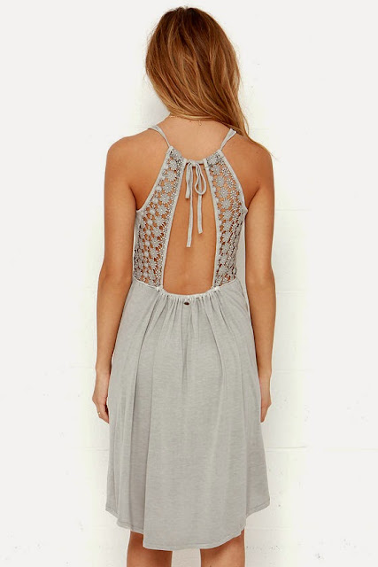 O'Neill Blossom Grey Lace Dress