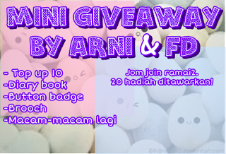 Mini giveaway by Arni Fatin Diana