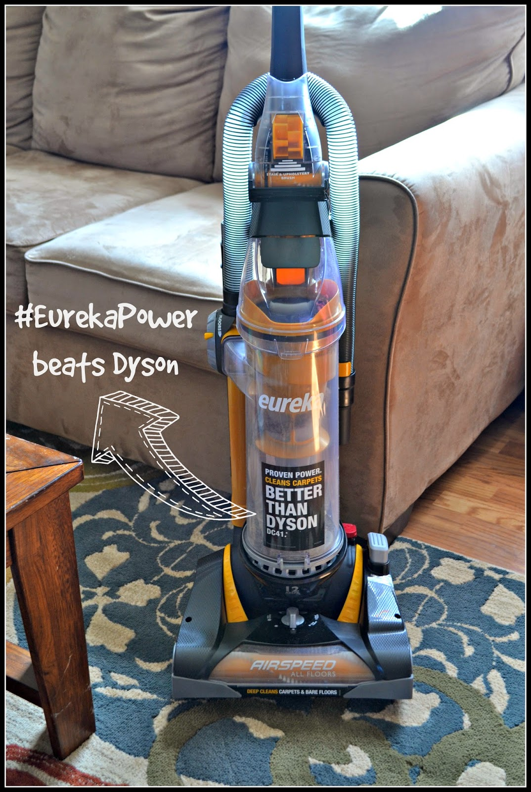 Upgrading to Eureka AirSpeed All Floors vacuum #EurekaPower
