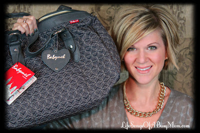 Life Songs Of A Busy Mom: Babymel Ella Quilted Diaper Bag Review